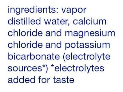smart water ingredients