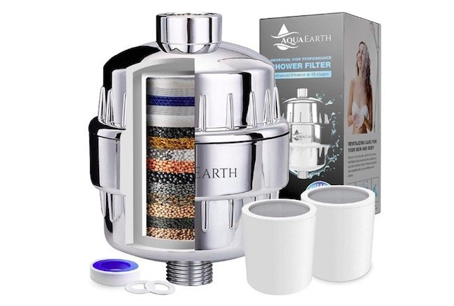 aqua earth shower filter reviews featured image